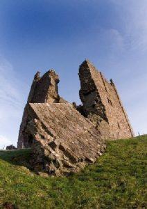 Crumbling stonework