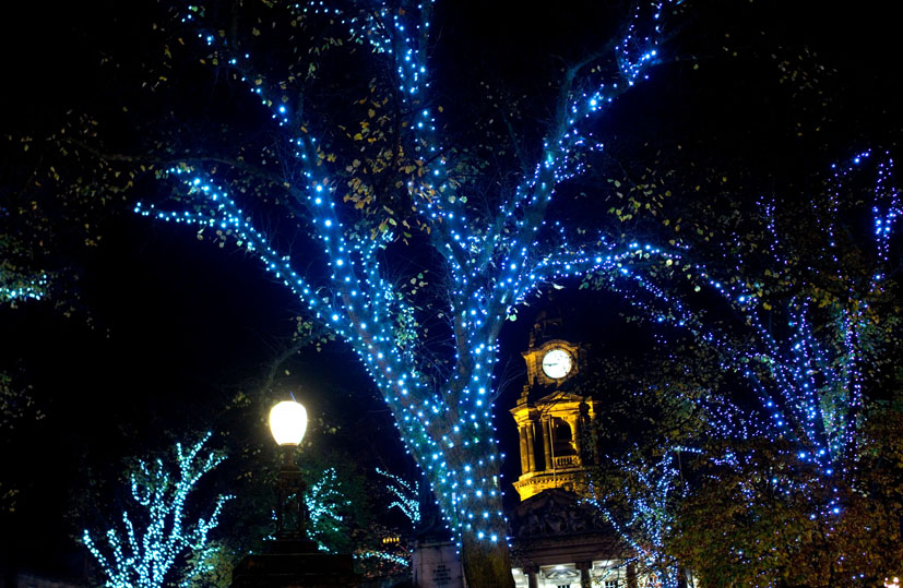 Dalton Square, ready for Christmas.