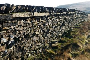 Beautifully built dry stone walls.