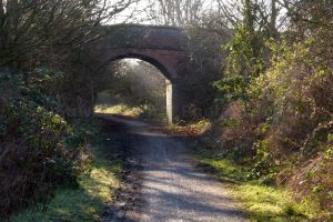Bikes and walkers are now the only traffic along the old railway.
