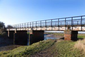 The old railway bridge at Condor Green.