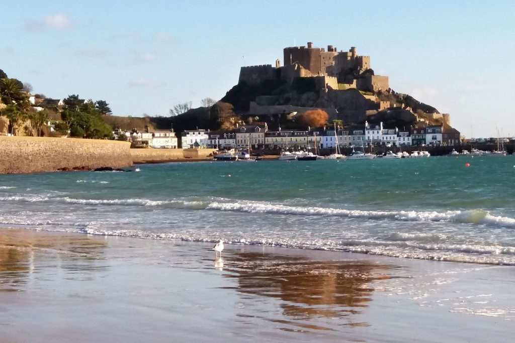Gorey beach and the famous castle.