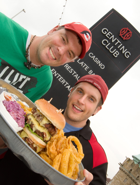 Big burgers in Blackpool!