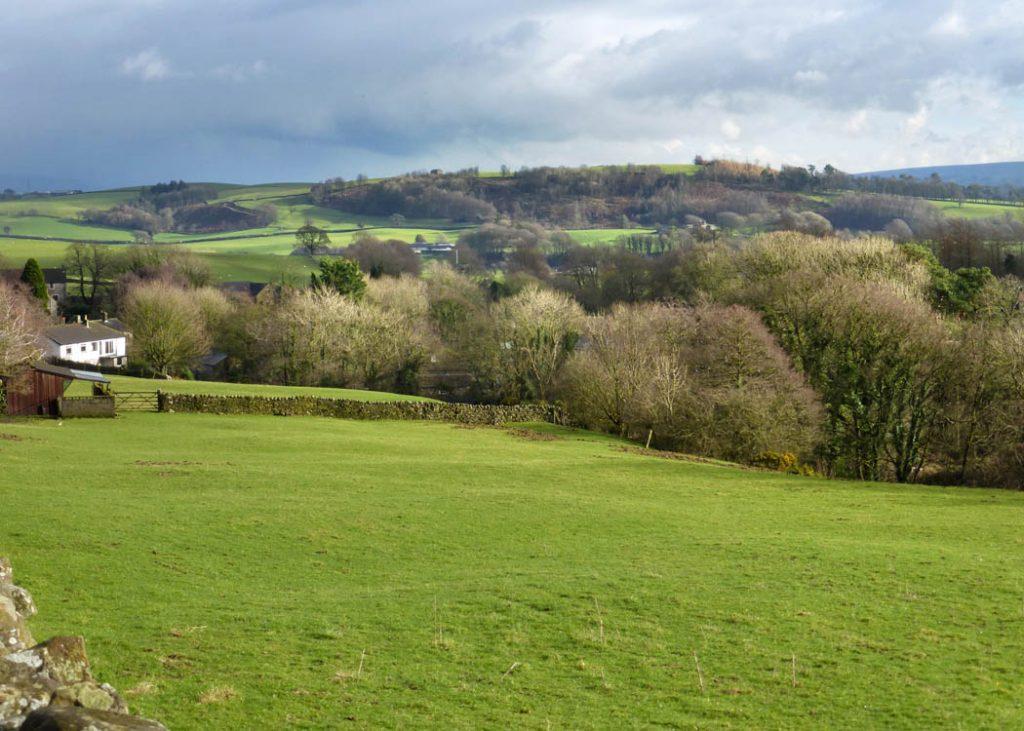 Gressingham looking towards Hornby.