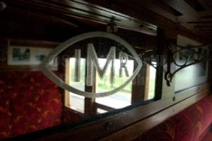 Inside one of the Victorian carriages.