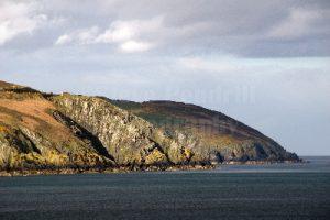 Isle Of Man's east coast.