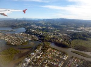 Coolangata and surrounds from the air.