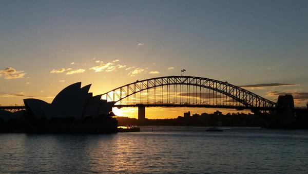 Iconic Sydney sunset.