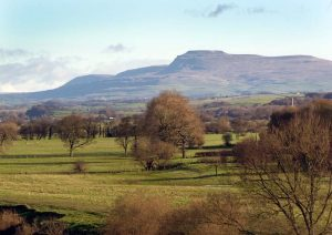 Zooming in on Ingleborough.