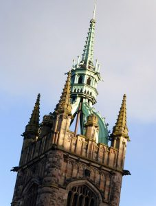 Gothic tower on the Assembly Rooms.