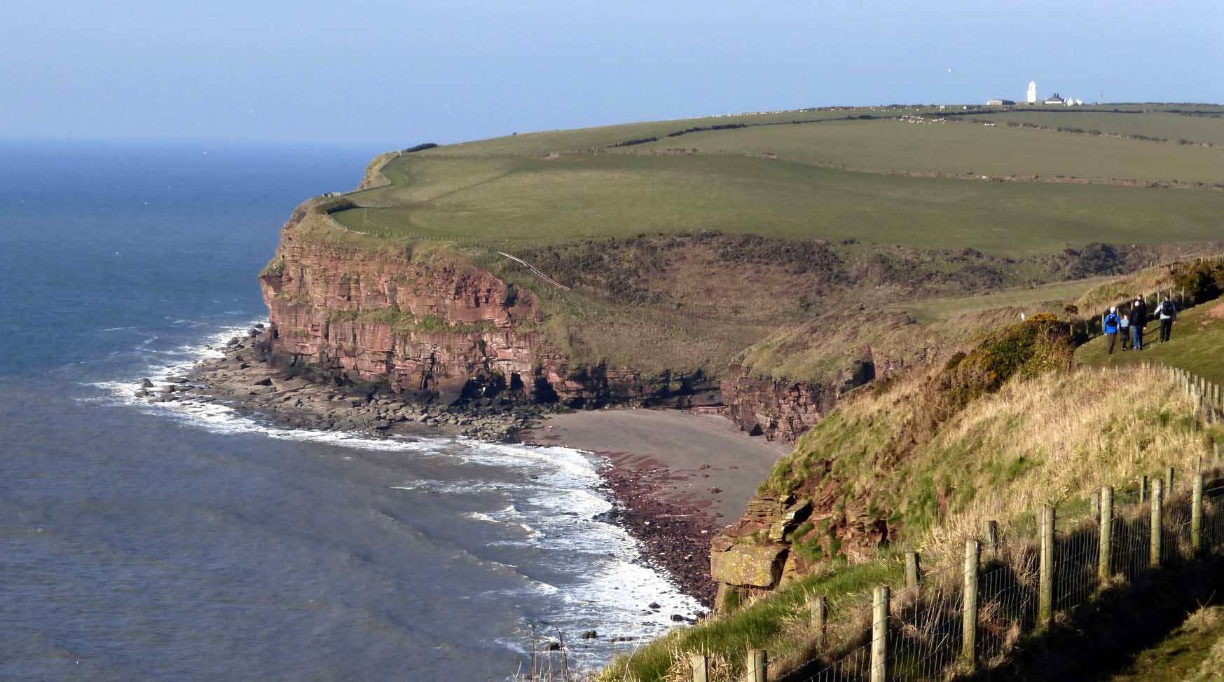 Fleswick Bay and St Bees Head.