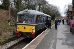 Railbus at Haworth.