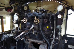 A peak at the controls on the footplate.