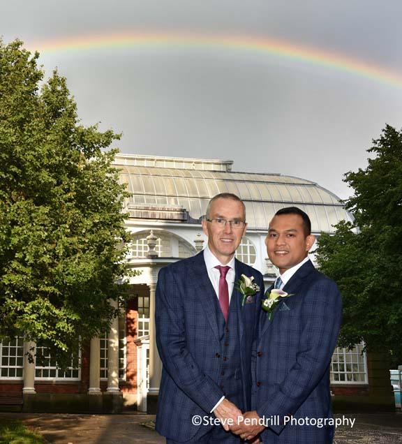 rainbow, butterfly house